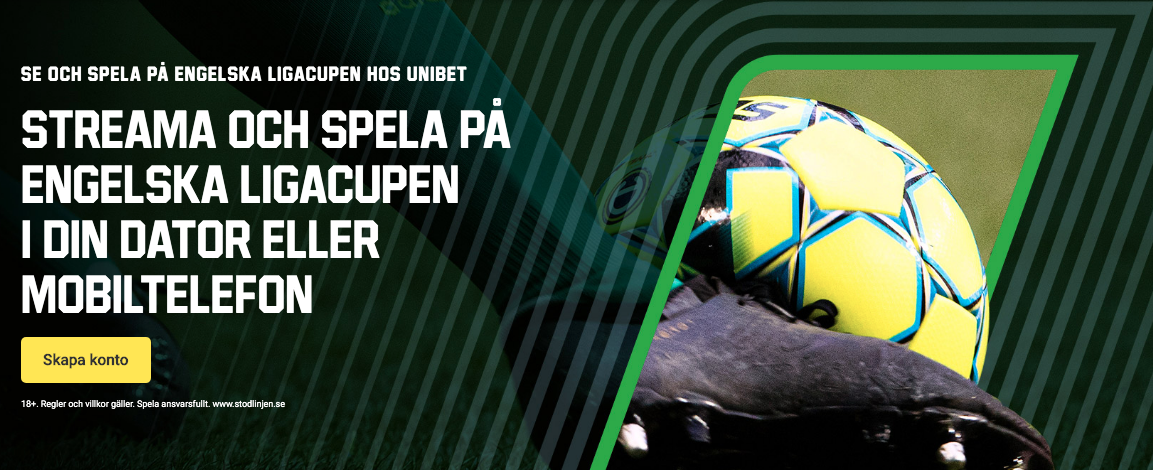 Engelska ligacupen live stream gratis? Streama EFL Cup/Carabao Cup gratis här!