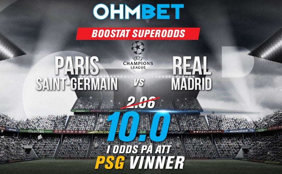 Speltips PSG Real Madrid – odds, tips, och bettingtips 6:3, Champions League 2018!