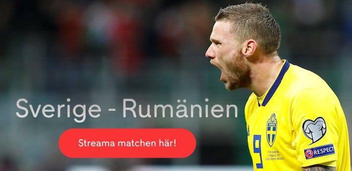 Sverige Rumänien på TV 2019