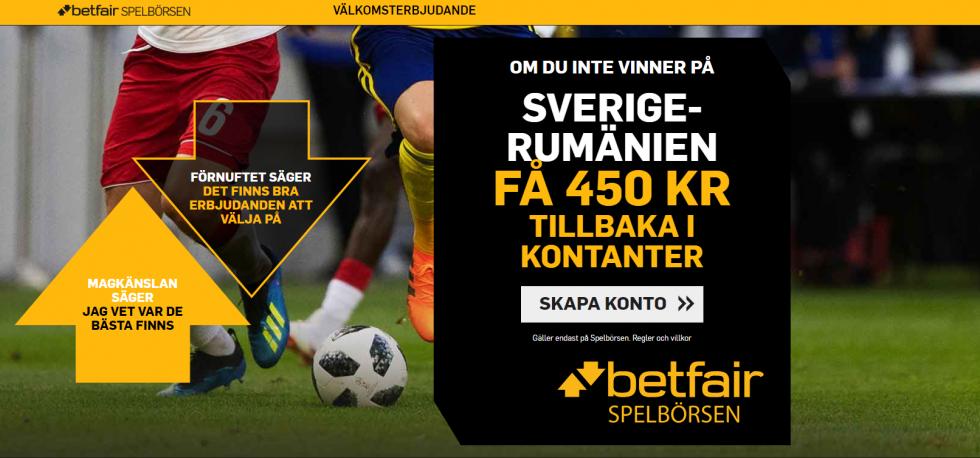 Sverige vs Rumänien speltips, erbjudanden & kampanjer