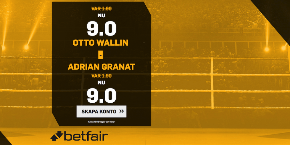 Otto Wallin vs Adrian Granat svensk tid & kanal- vilken tid, kanal & sändning TV Sverige