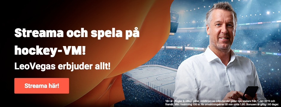 Hockey VM 2019 live stream gratis? Streama VM i ishockey 2019 live online streaming!