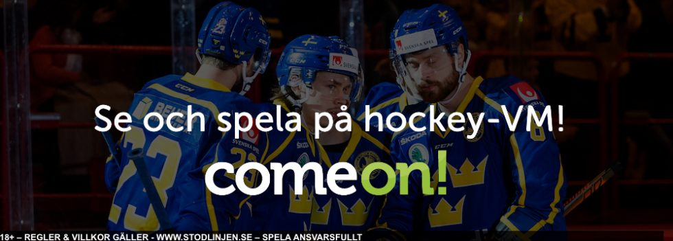 Streama Hockey VM gratis: ComeOn har Hockey VM stream gratis