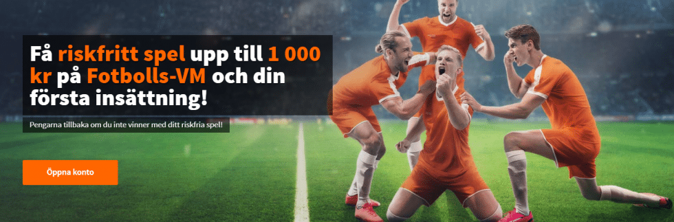 Betsson riskfritt spel - få 1 000 kr riskfritt spel fotbolls VM 2018