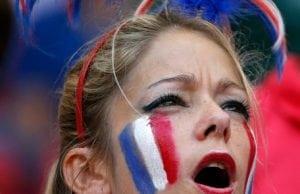 Kvinnliga fans Frankrike vm