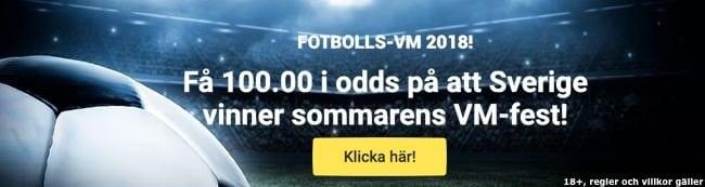 Odds tips Sverige vinner VM: bästa odds på Sverige vinner VM 2018!