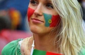 Portugal snygga kvinnliga fans vm