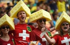 Schweiz fotbolls fans vm