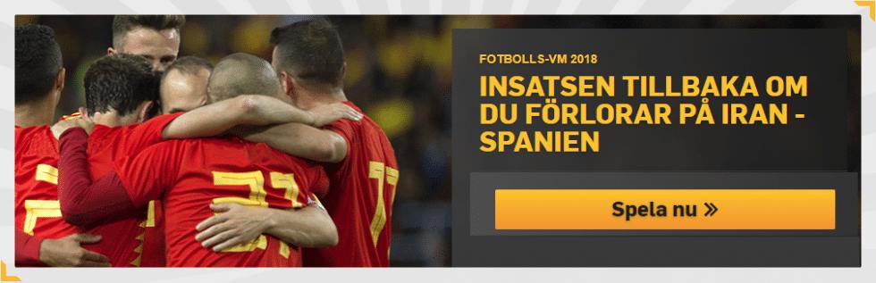 Speltips Iran Spanien - tippa riskfritt på Iran Spanien - 50 kr riskfritt spel