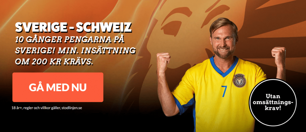 Speltips Sverige Schweiz - bäst odds tips Sverige vinner över Schweiz, Fotbolls VM 2018!
