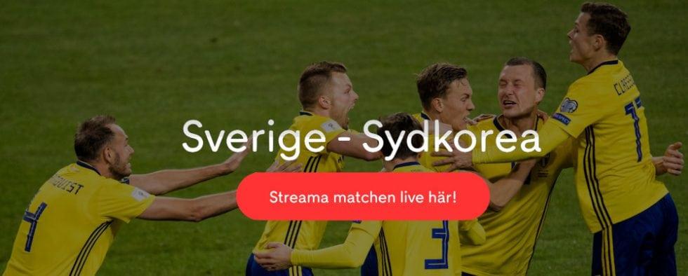 Sverige Sydkorea på TV 2018 - Sverige Sydkorea TV Kanal