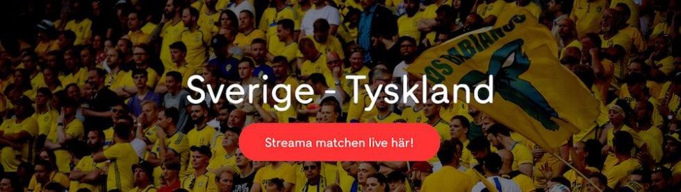 Sverige Tyskland TV kanal: vilken kanal visar Sverige Tyskland på TV?