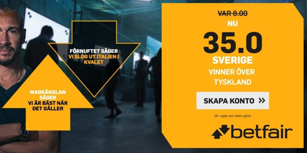 TV kanal Sverige Tyskland vilken kanal visar Sveriges match mot Tyskland på TV ikväll