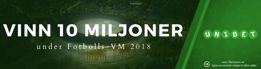Unibet VM jackpott - vinn 10 miljoner under VM 2018