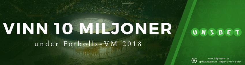 Unibet VM jackpott - vinn 10 miljoner under VM