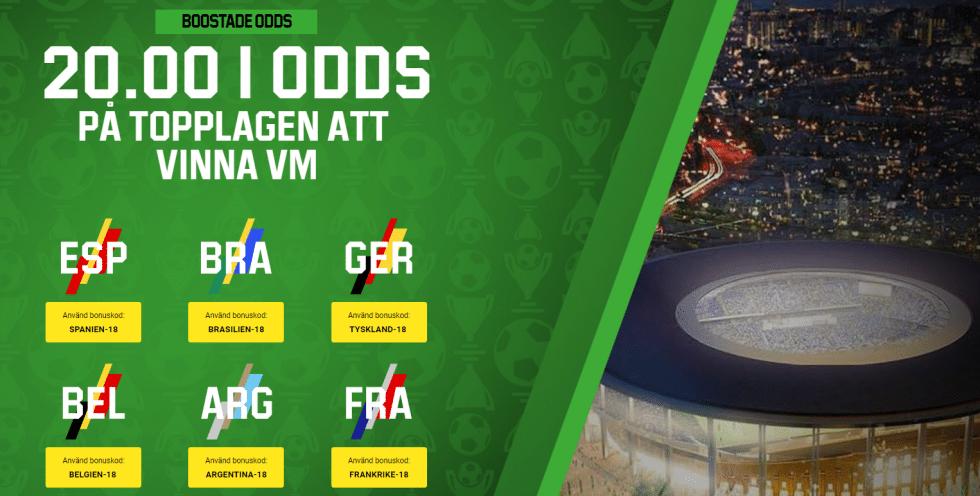 VM Tyskland vinnare - fotbolls VM 2018 vinnare förhöjda odds
