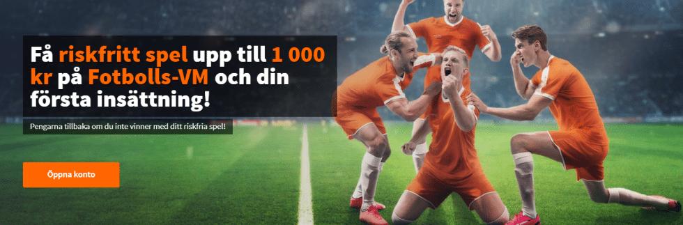 betsson riskfritt spel 1000 kr