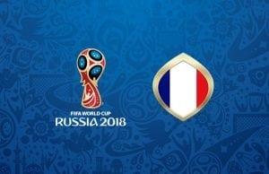 Odds på att Frankrike vinner fotbolls VM 2018