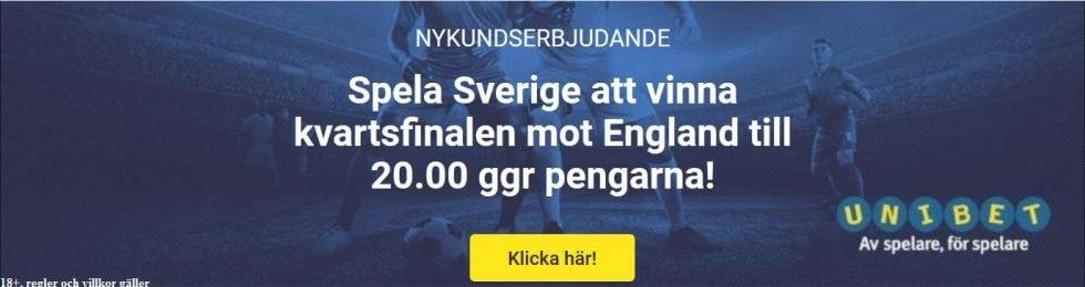Odds tips Sverige England