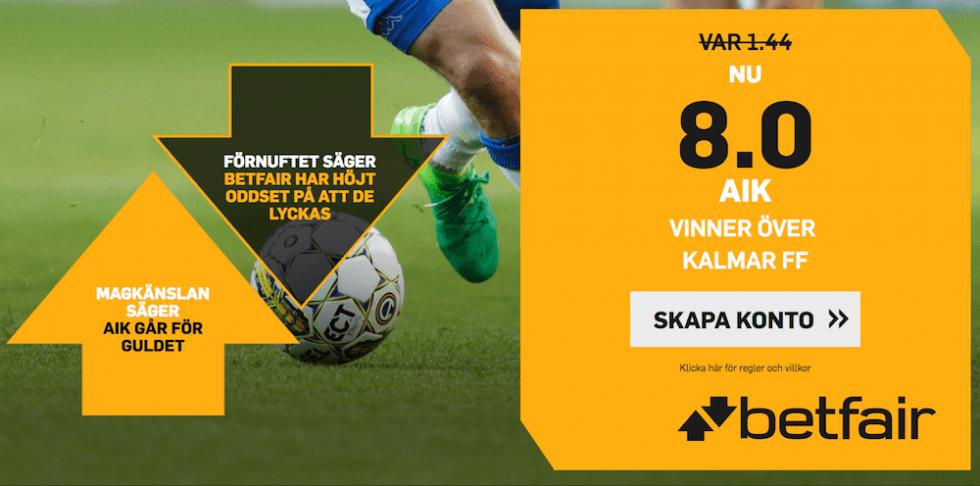 Speltips AIK Kalmar FF