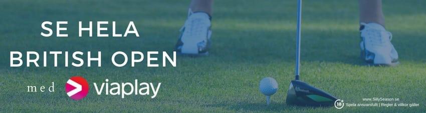 TV tider British Open 2018