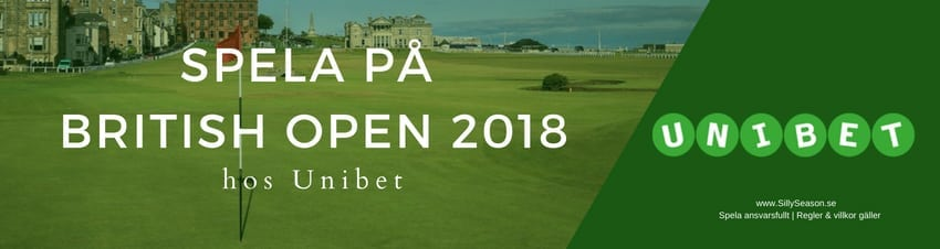 TV tider The Open Champonship 2018