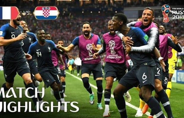 Frankrike Kroatien mål höjdpunkter: highlights från fotbolls VM-finalen 2018!