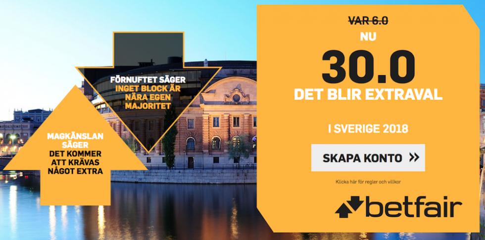Vem blir Sveriges nästa statsminister odds? Riksdagsvalet Sverige odds 2018!