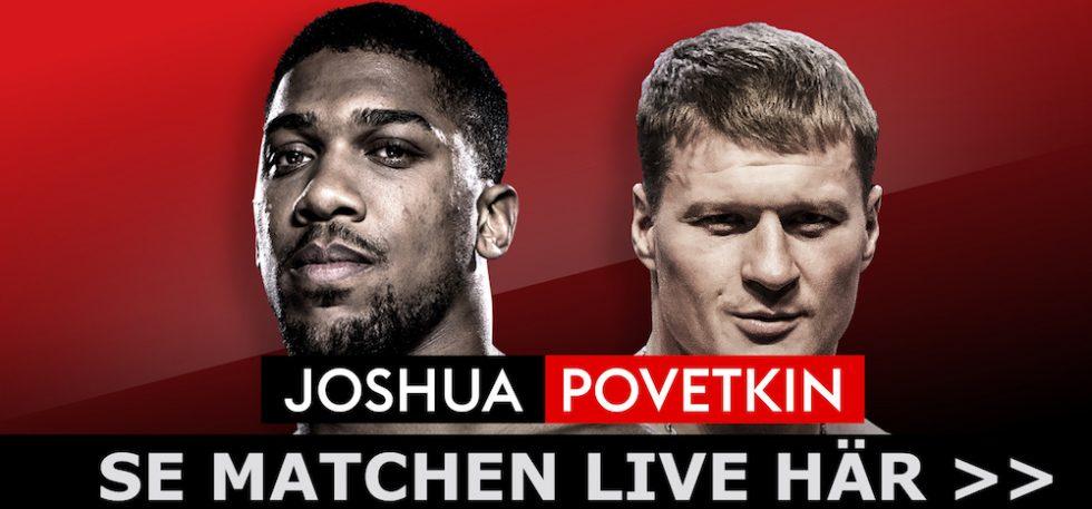 Anthony Joshua vs Alexander Povetkin TV-tider, TV-kanal, sändning - titelfight boxning svensk tid & kanal Sverige