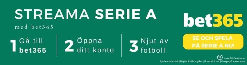 Serie A spelschema 2018/19 - se Serie A gratis hos bet365 - kolla in komplett spelschema Serie A 2018/2019!