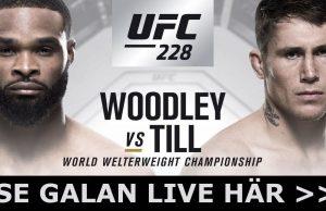 UFC 228 svensk tid & kanal- Woodley vs Till TV-kanal, sändning & tid Sverige