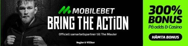UFC Sverige TV sändning - få 300% bonus hos Mobilebet!