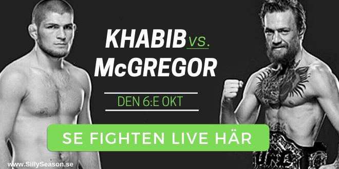 Conor McGregor Khabib Nurmagomedov TV Sverige - så kan du se McGregor Khabib på TV i Sverige!