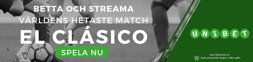 El Clasico TV kanal Sverige: se och spela på El Clasico hos UnibetTV