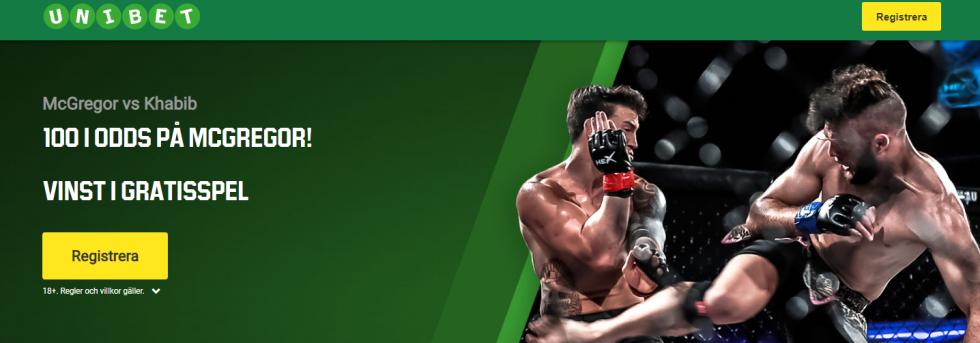 Odds tips McGregor vs Khabib UFC 229 fight speltips!