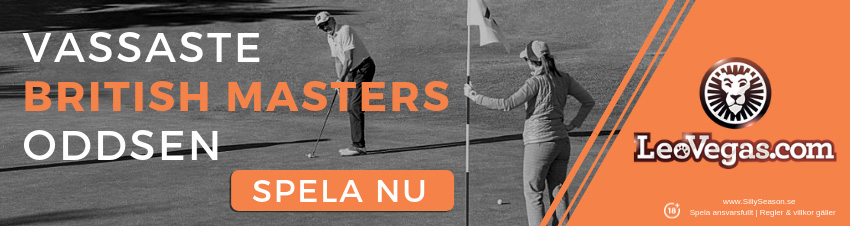 Prispengar British Masters golf