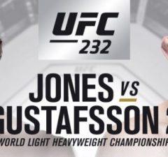 TV tider Gustafsson vs Jones- vilken tid börjar Maulers UFC 232 fight svensk tid?