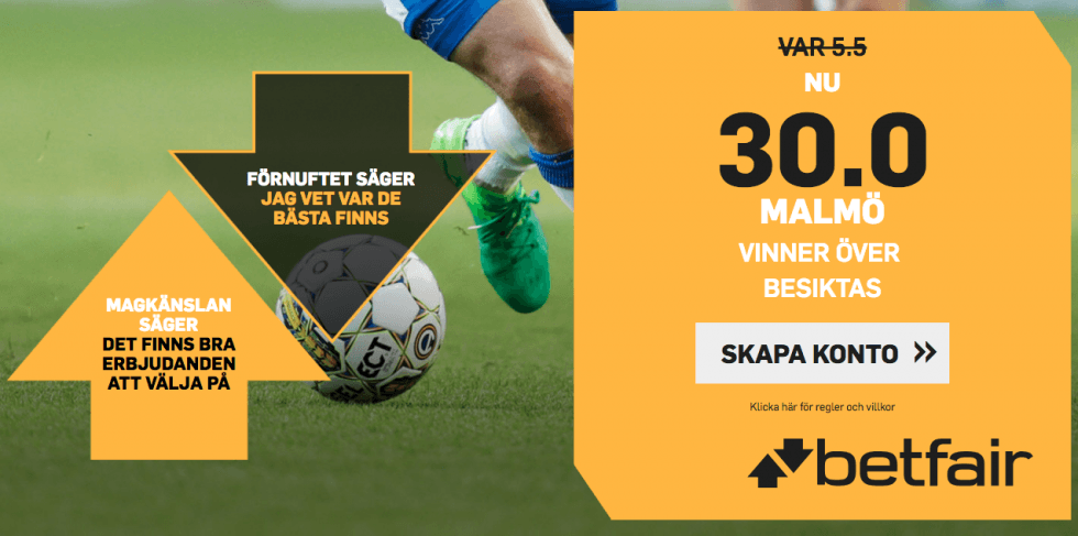 Malmö FF Besiktas TV-kanal - vilken kanal visar & TV-tider MFF Besiktas i Europa League?
