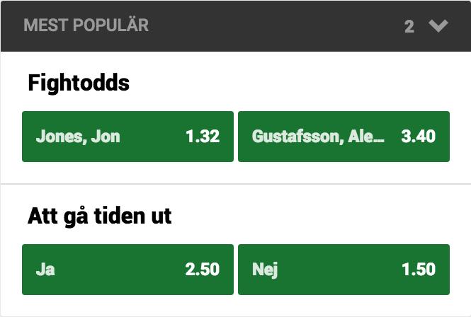 Speltips Gustafsson vs Jones UFC 232 fight odds tips