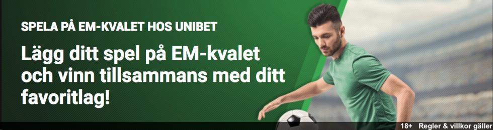 EM-kval tabell Sveriges grupp