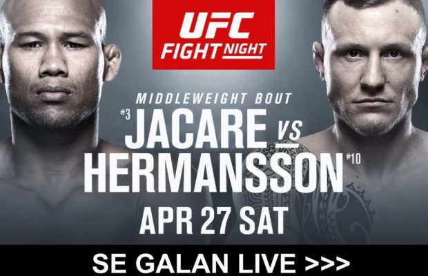Hermansson vs Jacare TV kanal- vilken kanal sänder UFC Fight Night på TV?