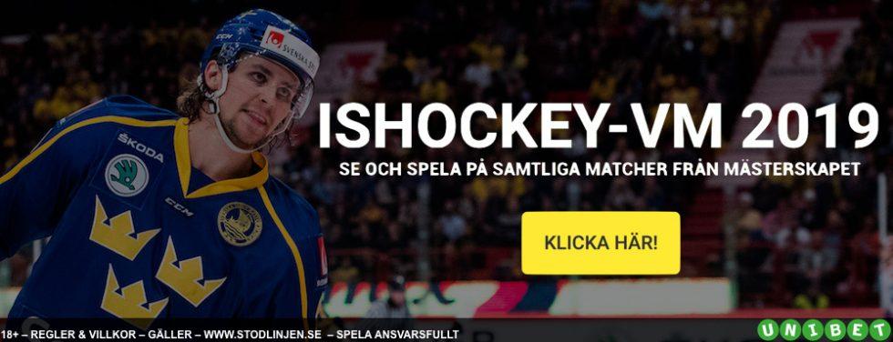 Vem vinner Hockey VM 2019? Odds vinnare ishockey VM 2019!