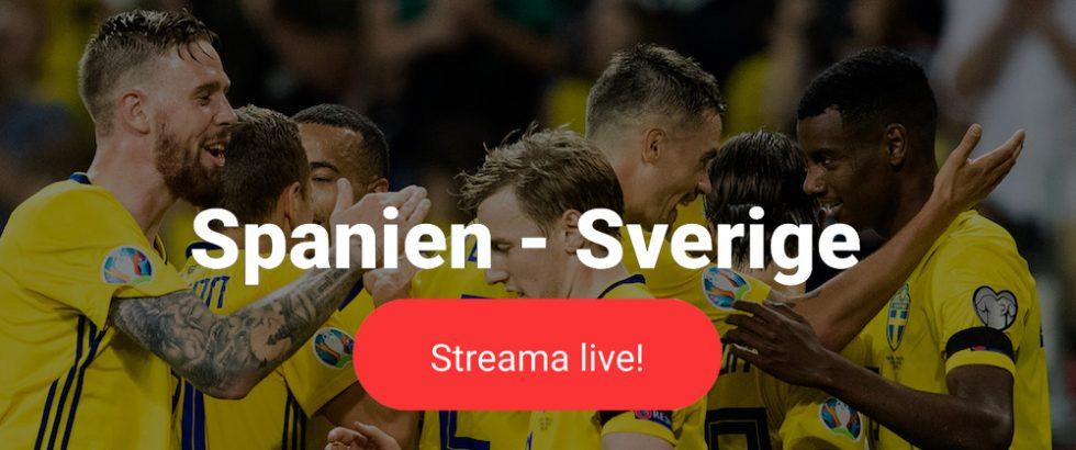Sverige Spanien TV kanal