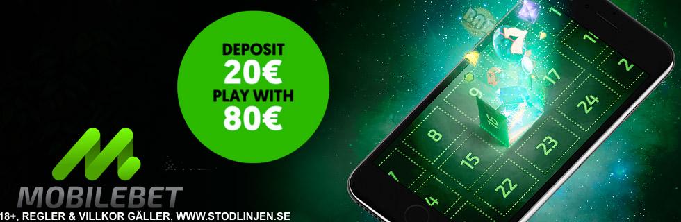 Mobilebet bonus - 100 kronor gratis