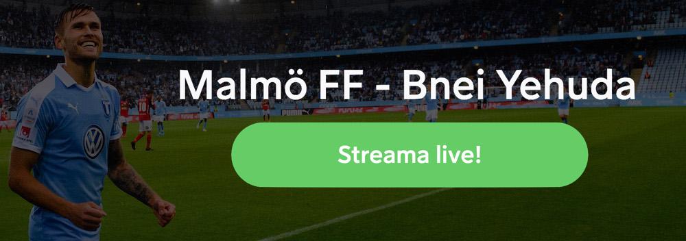 Malmö FF Bnei Yehuda TV kanal: vilken kanal visar Malmö FF Bnei Yehuda Tel Aviv på TV?