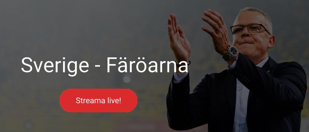 Sverige Färöarna på TV live/ vilken kanal visar landskamp fotboll?