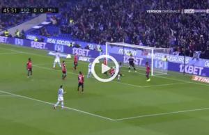 Alexander Isak mål mot Mallorca (0-1) – 2020-01-26
