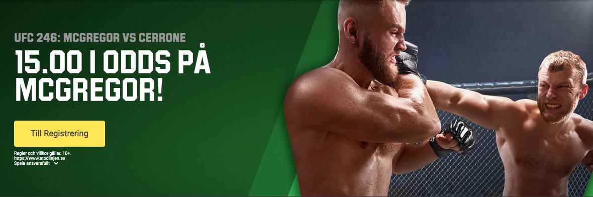 Conor McGregor Cowboy Cerrone TV kanal vilken kanal sänder UFC 246 fight på TV?