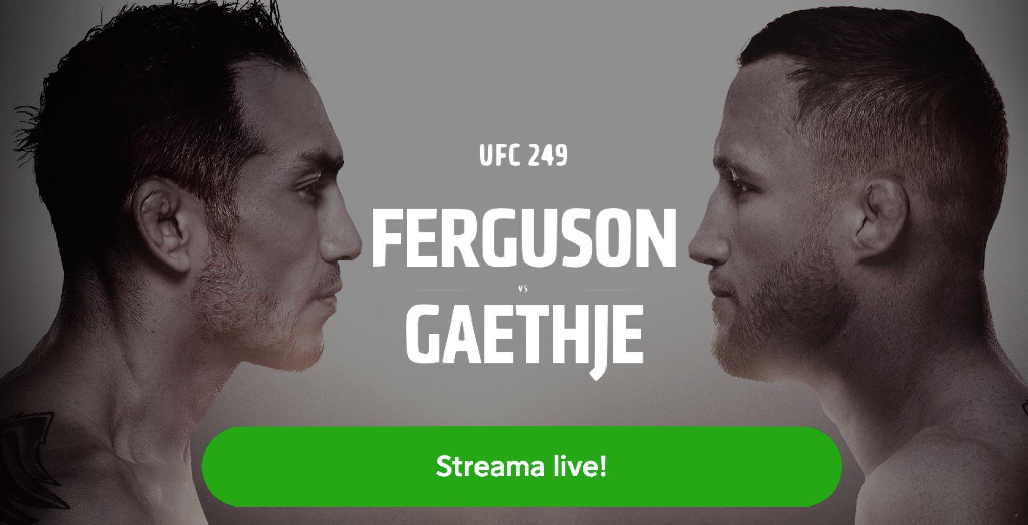 Tony Ferguson Justin Gaethje TV kanal- vilken kanal sänder UFC 249 fight på TV?