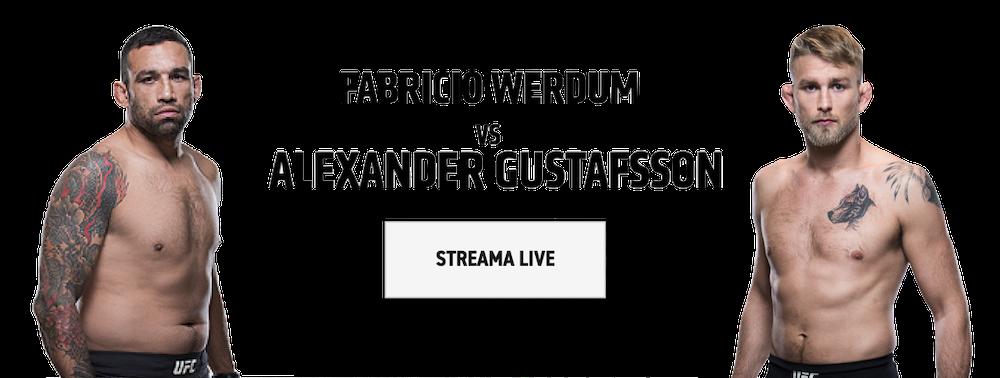 Alexander Gustafsson Fabricio Werdum TV kanal vilken kanal sänder UFC fight på TV?